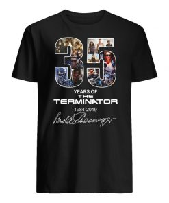 35 years of the terminator 1984-2019 signatures men's shirt