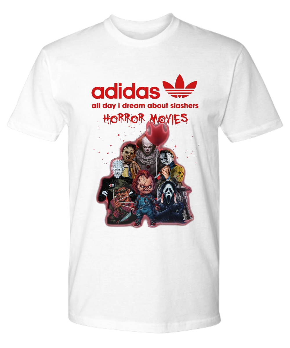 Adidas all day I dream about slashers horror movie premium tee