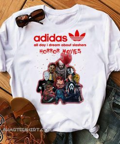 Adidas all day I dream about slashers horror movie shirt