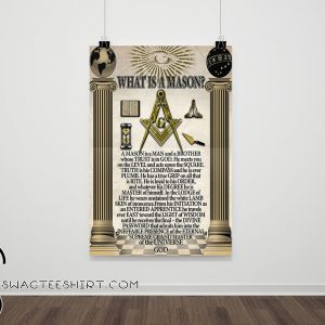 Antique masonic what is a mason poster