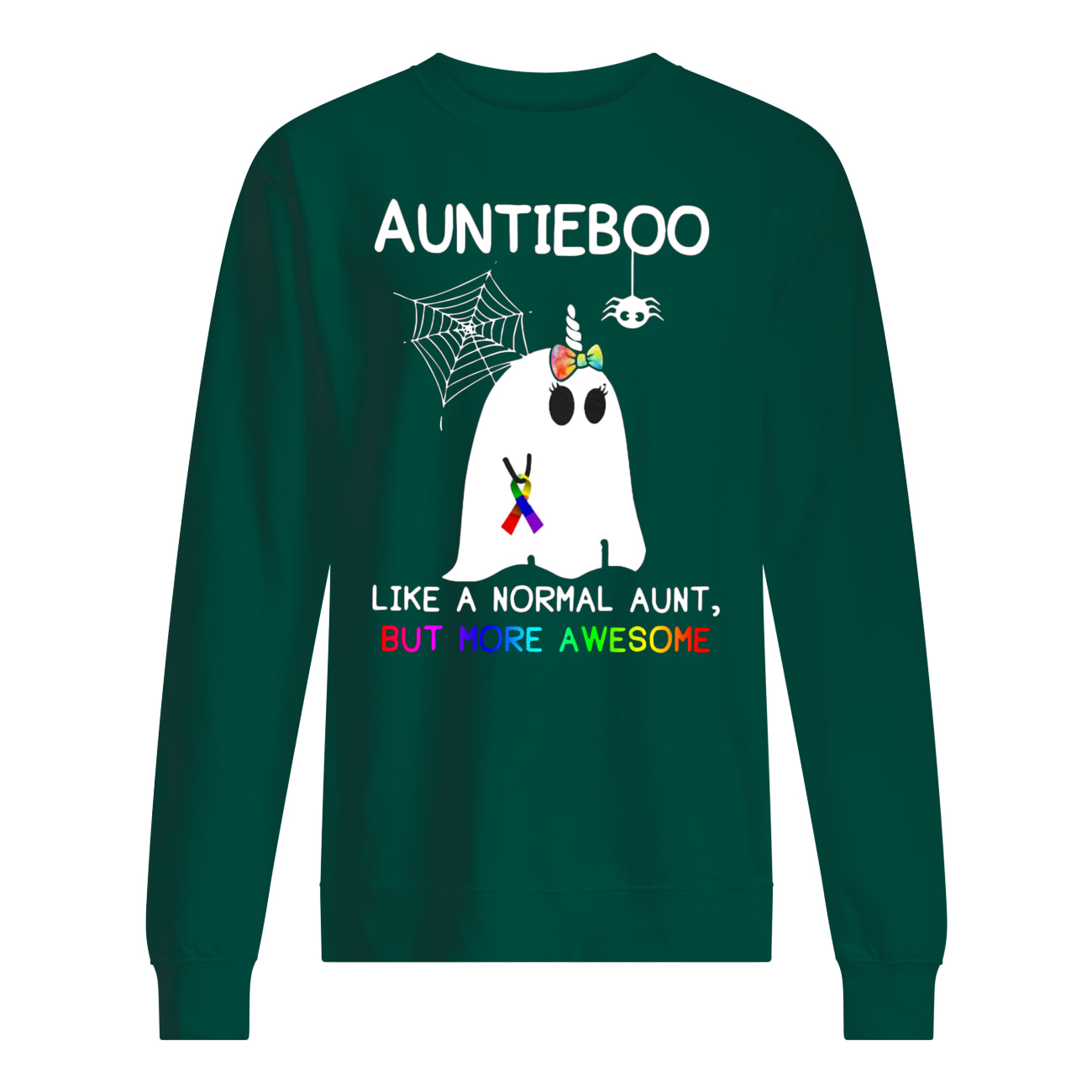Auntieboo like a normal aunt but more awesome cancer ribbon sweatshirt