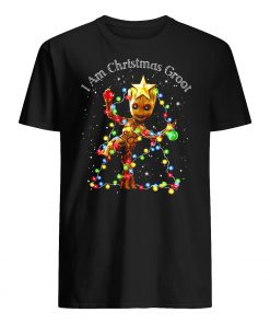 Baby groot I am christmas groot light mens shirt