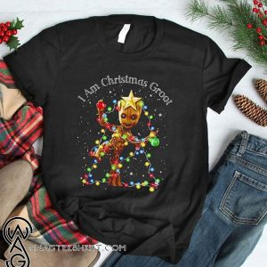 Baby groot I am christmas groot light shirt
