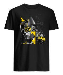 Batman 80 years bat panels dark men's shirt