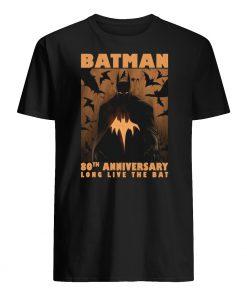 Batman 80th anniversary long live the bat mens shirt