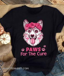 Breast cancer awareness corgi for the cure shirt