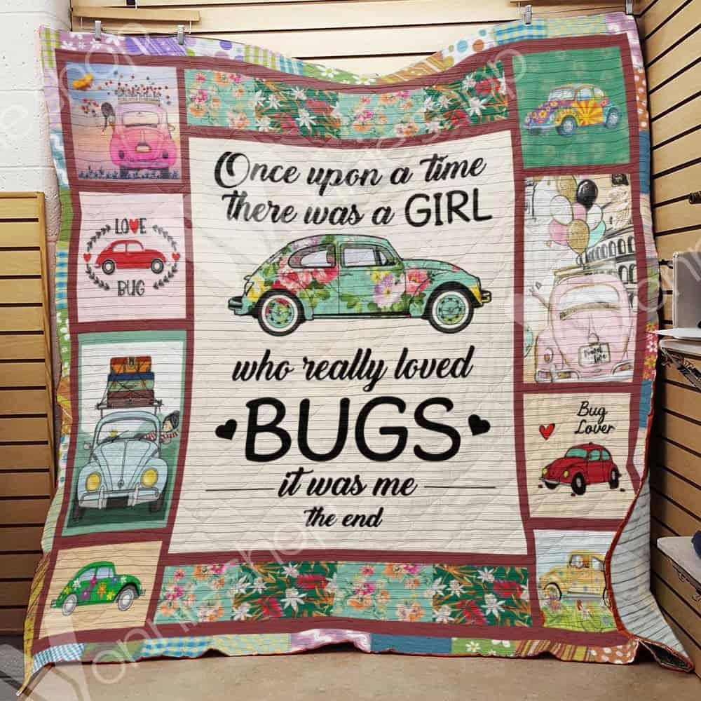 Bug car once upon a time there was a girl blanket - twin