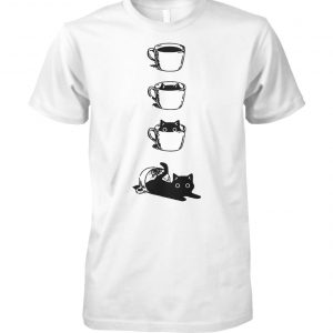 Cat in a cup unisex cotton tee