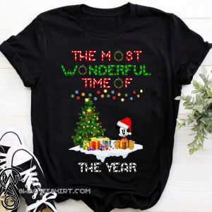 Christmas mickey mouse the most wonderful time of the year shirt