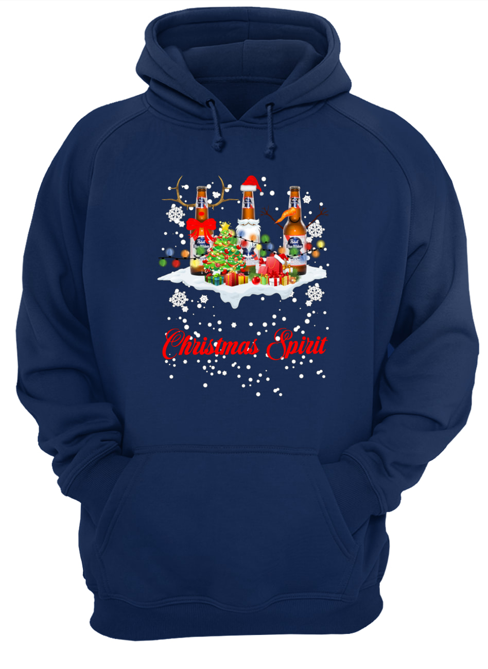 Christmas spirit pabst blue ribbon hoodie