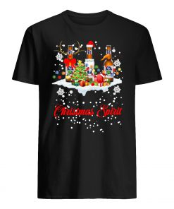Christmas spirit pabst blue ribbon men's shirt