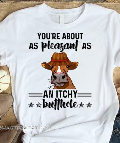 Cow you're about as pleasant as an itchy butthole shirt