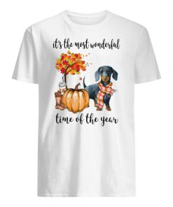 Dachshund it's the most wonderful time of the year men's shirt