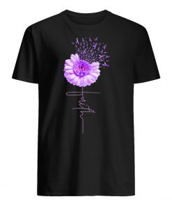Daisy flower faith alzheimer's awareness men's shirt