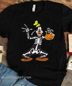 Disney goofy skeleton halloween shirt