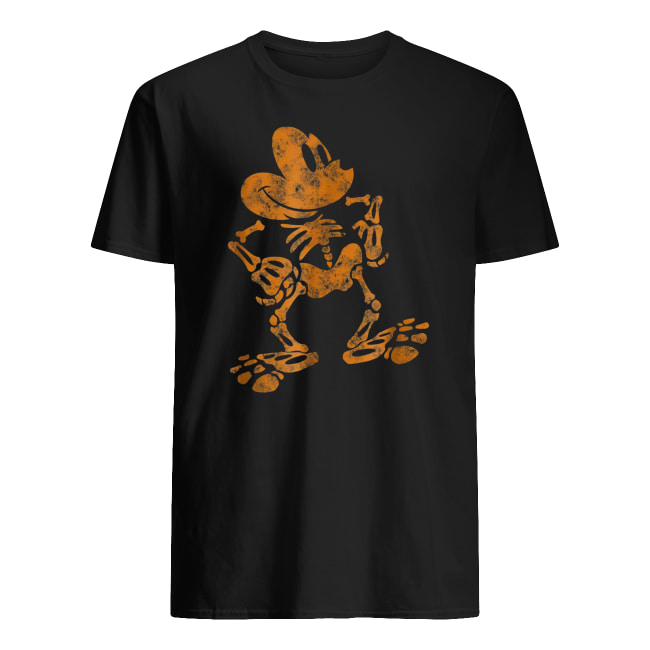 Disney mickey mouse skeleton halloween men's shirt