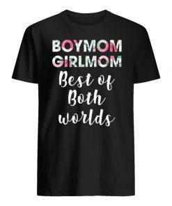 Floral boymom girlmom best of both worlds men's shirt
