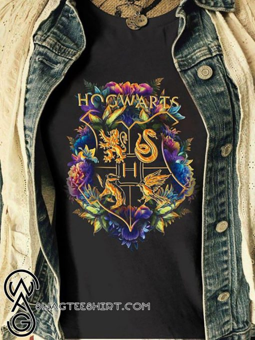 Floral house crests the wizarding world harry potter shirt