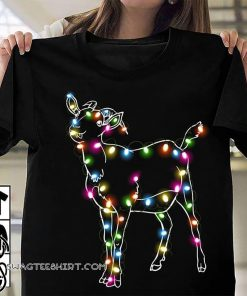 Goat christmas light shirt