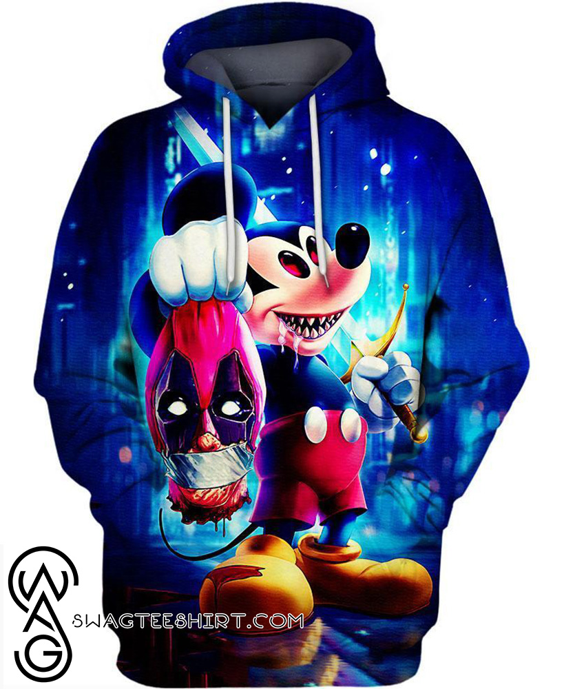 Halloween evil mickey mouse 3d hoodie
