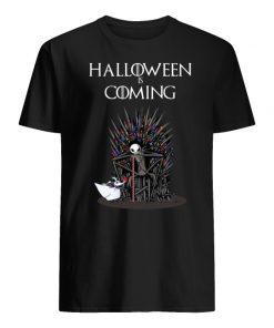 Halloween is coming jack skellington game of thrones men's shirt