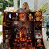 Halloween trick `r treat blanket