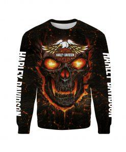 Harley-davidson motorcycles skull 3d sweatshirt