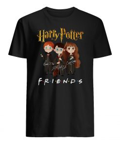 Harry potter characters friends tv show signatures mens shirt