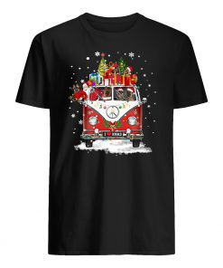 Hippie car german shepherd christmas mens shirt