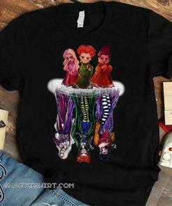 Hocus pocus characters chibi water reflection shirt