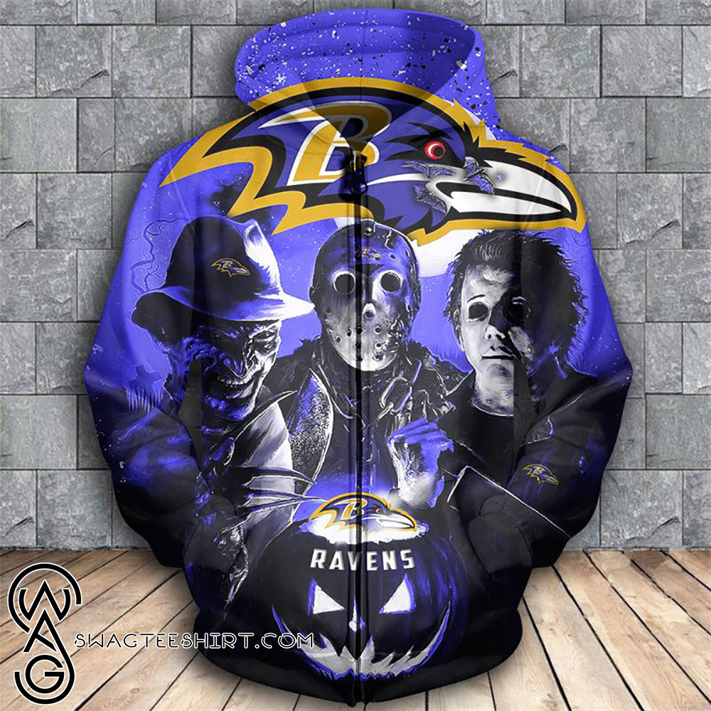 purchase cheap ce5d1 549c6 Horror movie characters washington redskins 3d zipper hoodie