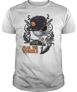 Jack skellington fear the auburn tigers guy shirt
