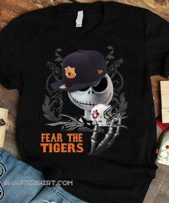 Jack skellington fear the auburn tigers shirt