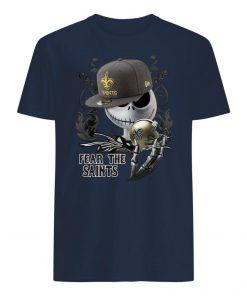 Jack skellington fear the new orleans saints men's shirt