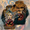 Jack skellington you happy halloween 3d zip hoodie