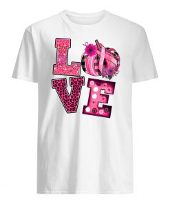 Love pink pumpkin breast cancer awareness month mens shirt