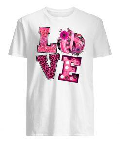 Love pink pumpkin breast cancer awareness month mens shirt