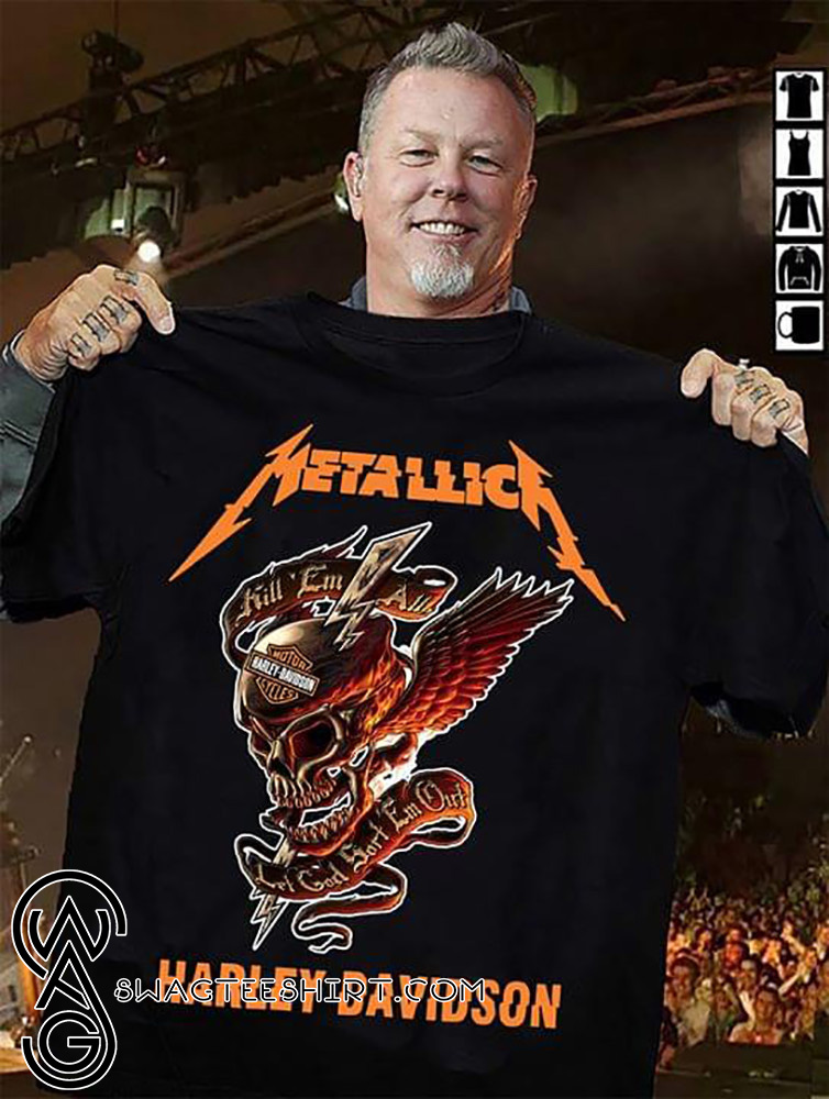 Metallica harley davidson kill em all shirt