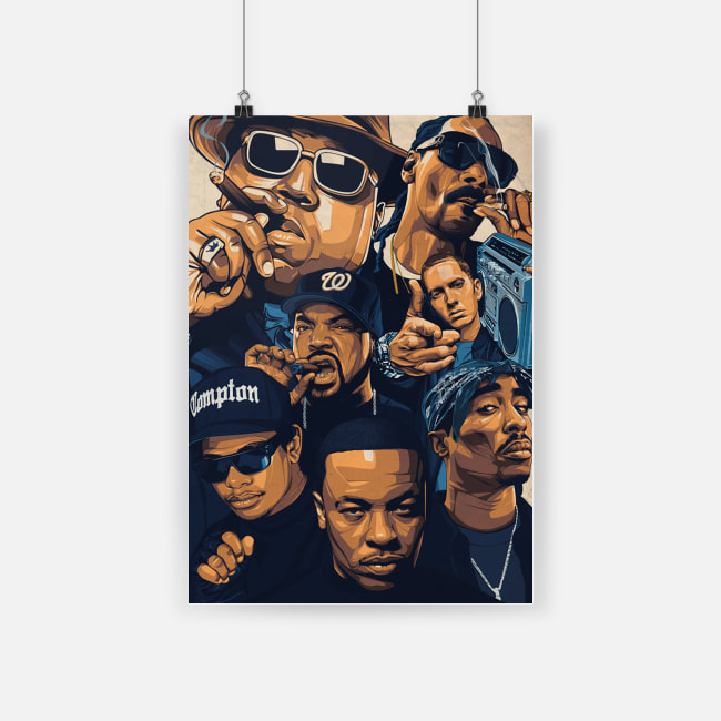 Notorious big snoop dogg ice cube eminem tupac poster - a4