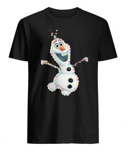 Olaf christmas light mens shirt
