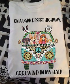 On a dark desert highway cool wind in my hair hippie girl with cats shirt