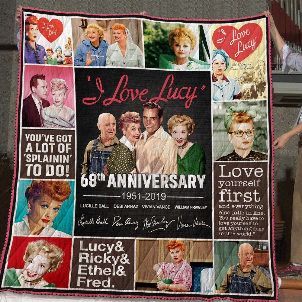 Original I love lucy 68th anniversary 1951-2019 quilt