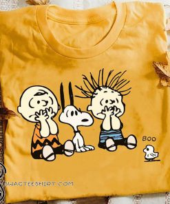 Peanuts charlie brown and snoopy halloween boo shirt
