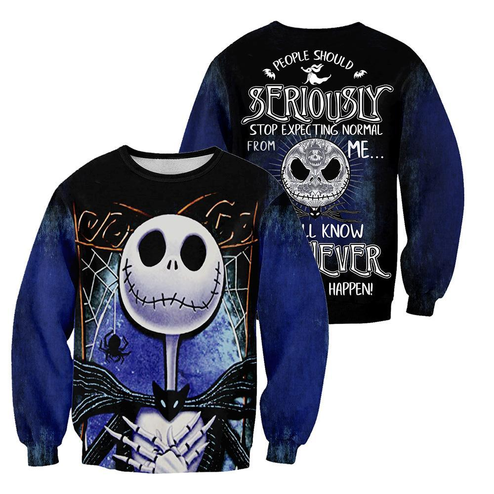 T SHIRT S-M-L-XL-2XL Brand New Official Jack THE NIGHTMARE BEFORE CHRISTMAS