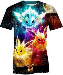 Pokemon eevee evolution 3d t-shirt