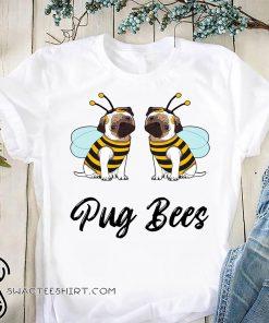 Pug bees couples shirt