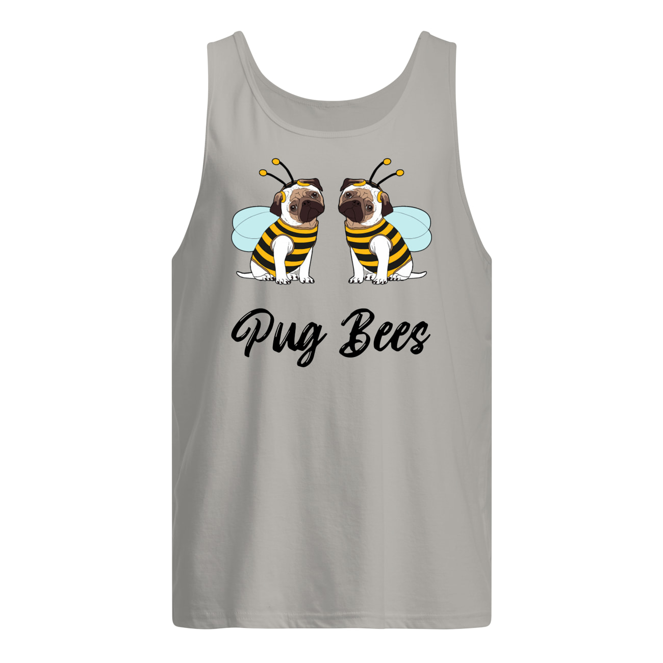 Pug bees couples tank top