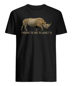 Rhino there is no planet b mens shirt