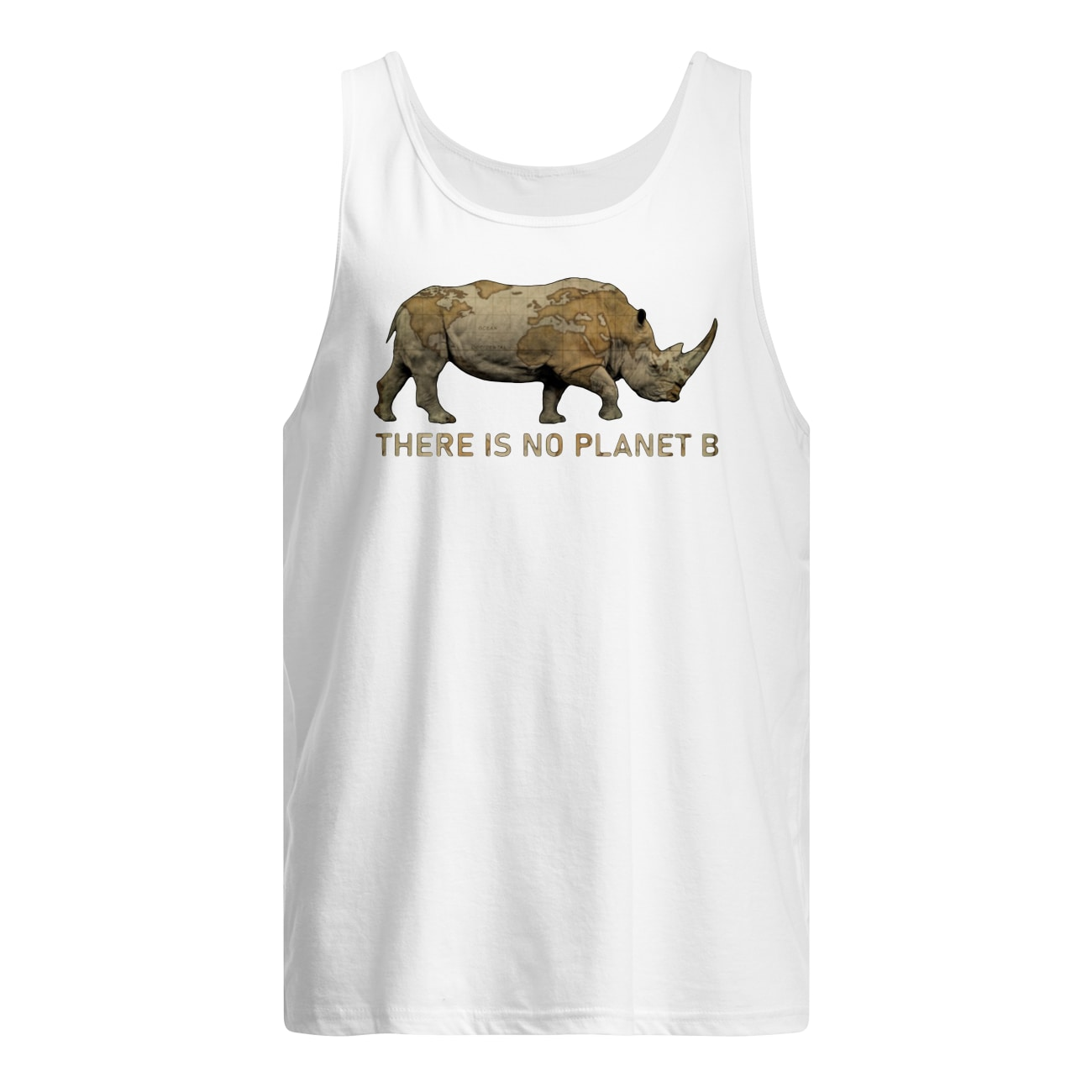 Rhino there is no planet b tank top