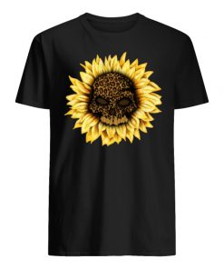 Skull leopard sunflower men's shirt